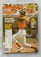 Jack Clark San Francisco Giants May 1979 Baseball Digest vg/ex