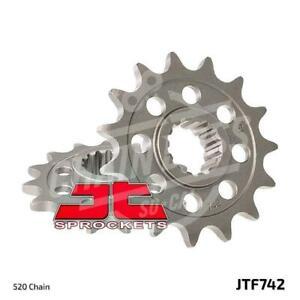 JT Sprockets 520 Front Sprocket Steel 14 Teeth Natural JTF742.14