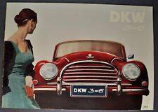 1957 DKW Auto Union 3-6 Catalog Sales Brochure Excellent Original 57