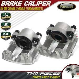 2x Brake Caliper Front L + R for Jeep Cherokee XJ Wrangler TJ Grand Cherokee ZJ