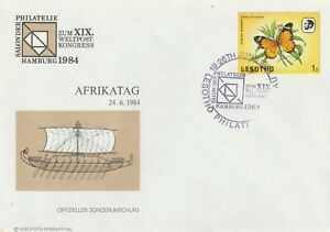 1984 Lesotho cover with cancel Africa Day on Philately Salon