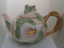 Fitz & Floyd Calla Lily 1987 Tea Pot Collectible Hand Painted Japan 42oz