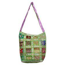 Trendy Women's Handbag Traditional Indian Old Saree Less Work Jhola Handbag Bg5D