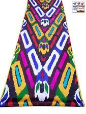 "Silk cotton Ikat fabric by the yard,19inch wide, uzbek traditional ""Khan-Atlas"""