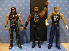 WWE MATTEL 3 INTERACTIVE TALKING WRESTLING FIGURES REIGNS ROLLINS TOUGH TALKERS