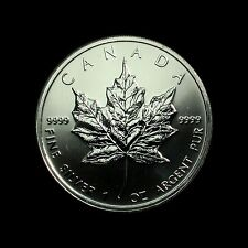2009 Canadian 1oz Silver Maple Leaf, 5 Dollars, UNC in capsule with COA