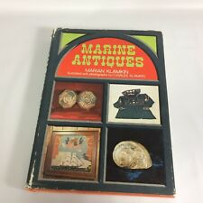 Marine Antiques Marian Klamkin 1975 1st Ed New York Dust Jacket HC