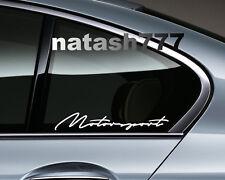 MOTORSPORT Performance Racing Sport Car Window Vinyl Decal sticker emblem WHITE