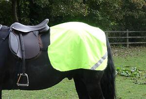 Fluorescent hi viz horse quarter rug - yellow - pony cob or full size