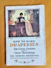 """New listing 1930 Singer Sewing Machine Co. Booklet - """"How To Make Draperies"""""""