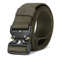 JASGOOD Men's Nylon Army Belt Military Webbing with Quick Release Metal Buckle