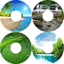 Natural Sounds Jungle Ocean Waves Babbling Brook Rain 4 CD Relaxation Set
