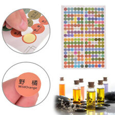 216 Paper Sticker Labels for Essential Oil Bottle Cap Color Coded For doTERRA BH
