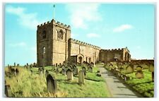 Postcard Whitby East Cliff St Mary's Parish Church Norman Nave