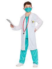 Kids Costume Fancy Dress Uniform Child Surgeon Doctor Scrubs Boys Girls Age 5-7