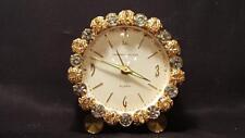 Vintage 1950's Phinney-Walker Rhinestone Alarm Clock Germany WORKS