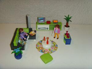 Playmobil City Live 5584 Wohnzimmer mit Leuchtlampe und Zubehör