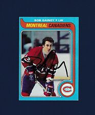 Bob Gainey signed Montreal Canadiens 1979 Topps hockey card
