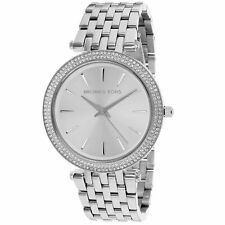 Michael Kors Darci Silver Tone Stainless Steel MK3190 Womens Glitz Watch