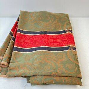 fabric upholstery matelasse green floral striped 54 wide x 90 2.5 yards crafts