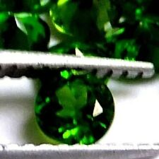NATURAL GREEN CHROME DIOPSIDE GEMSTONES LOOSE 1piece ROUND 4.9 mm