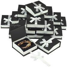 LOT OF (7) BANGLE BOX JEWELRY GIFT BOX BRACELET BOX BANGLE BLACK WATCH GIFT BOX