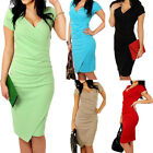 Women Office Lady Bodycon Bandage Evening Cocktail Party Pencil Cocktail Dress