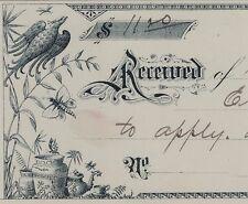 SUPER  Aesthetic Movement Art  Design Billhead Receipt Paper LOT of 8 - 1880s +