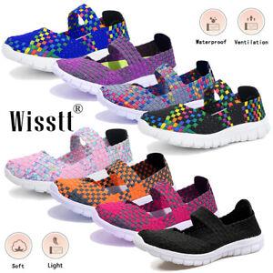 Womens Flat Sandals Trainers Comfort Casual Beach Walk Elasticated Pumps Shoes