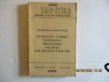 Tm 9-1718 D Hydraulic Turret Traversing Mechanism (Oilgear) For Medium Tank M46