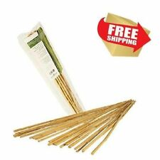 25 Bamboo Sticks Trellis Stakes 2' for Garden Plants Support Tomatoes Peas Plant