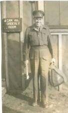 Canadian Officer , WW2,  Original Photo