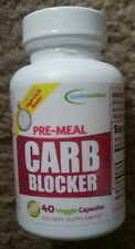 Applied Nutrition Pre-Meal Carb Blocker 40 Veggie Capsules Dietary Supplement