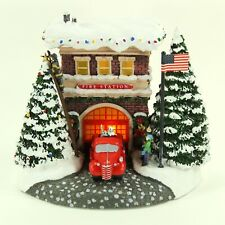 Kinkade Fire Station First Responder's Christmas, 2019 Teleflora Lighted Cottage