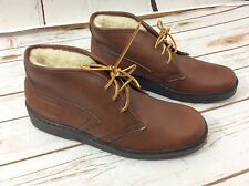 Vintage Bates Floaters Brown Leather Men's Chukka Short Boating Boots 8.5 M