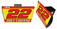NASCAR #22 JOEY LOGANO Metal Trailer Hitch Cover-NASCAR Hitch Cover