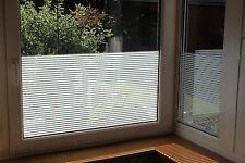 9,86€/m² Linierte Fensterfolie Weiße Streifen 10 mm Sichtschutzfolie UV Schutz