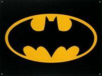 "Batman Logo Retro Metal Tin Sign, 16"" x 13"""