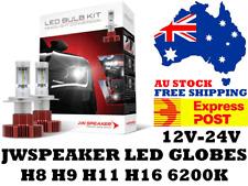 JW Speaker H8 H9 H11 H16 LED Headlight Globes 12V & 24V - Free Express Post