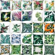 """18""""20"""" Tropical Plant Printed Cushion Cover Green Leaves Throw Pillow Case Decor"""