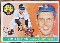 1955 Topps Baseball Card, #192 Jim Desling, Detroit Tigers - G
