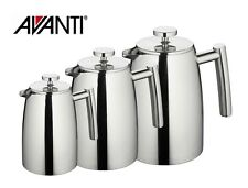 New AVANTI 6 Cup Modena Double Wall Insulated S/Steel Coffee Plunger 0.8 Litre
