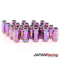 Alomados acero Lug NUTS m12 x 1.5 tuercas de rueda negro 20st para japón Racing