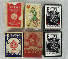 Lot 6 Decks Magic Trick Playing Cards Black Deck Tigers Mercury Fox Lake