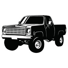 Chevy Chevrolet 4x4 Truck Clipart Vector Clip Art Graphics Dxf Svg Eps Ai Png