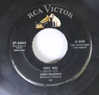 Rock 45 Harry Belafonte - Once Was / Jamaica Farewell On Rca Victor