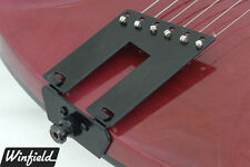 BLACK trapeze tailpiece made for a right- OR left-handed Rickenbacker guitar