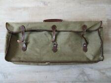 Vintage green canvas tennis racket sports carry bag