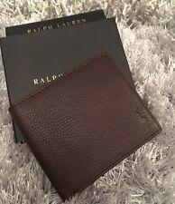 Polo Ralph Lauren Marron en Cuir Portefeuille Boîte Cadeau Homme Authentique Fête des Pères