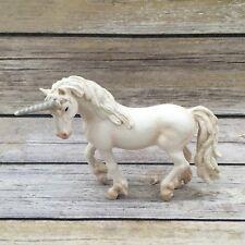 "Schleich 2004 Unicorn PVC Figurine  5"" White Pink Glitter Fantasy"